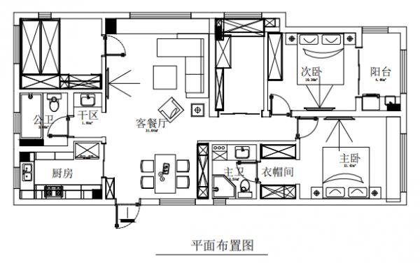 现代简约滨沁公寓三居室,时尚大气的精致生活